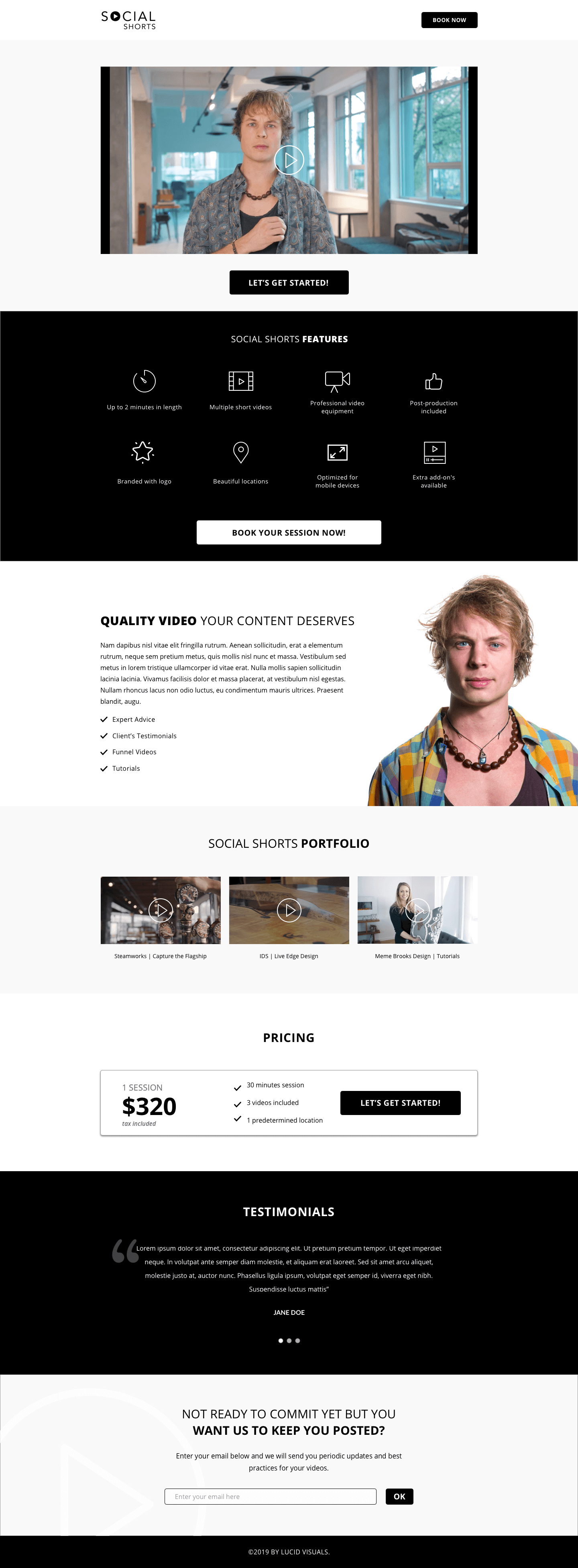 Landing Page Web Design Vancouver